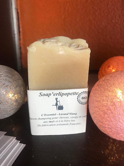 Savon shampooing biologique et artisanal pour, les cheveux, visage et corps