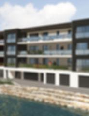 zoom sur grande terrasse immeuble neuf hettange