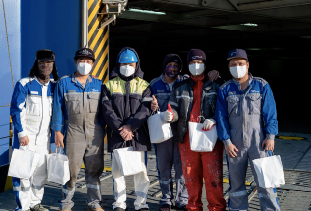 Seafarers Receive Gift