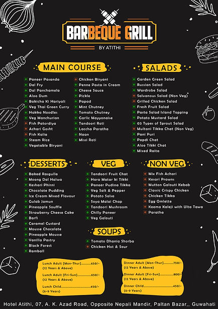 Barbeque Grill By Atithi Menu