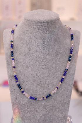Girocollo con cristalli e argento 925 - blu