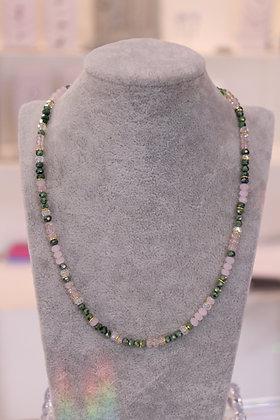 Girocollo con cristalli e argento 925 - verde