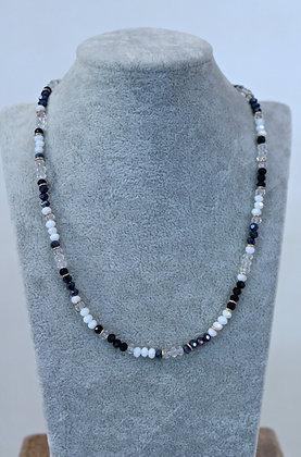 Girocollo con cristalli e argento 925 - bw