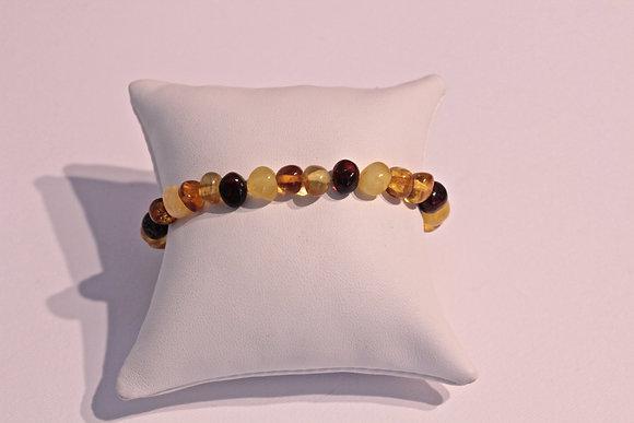 Bracciale perle in vera ambra