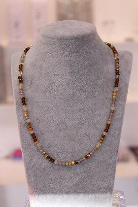 Girocollo con cristalli e argento 925 - arancio