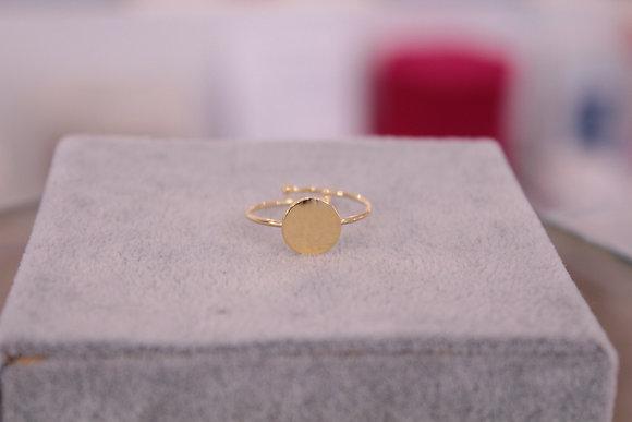 Anello cerchio argento dorato