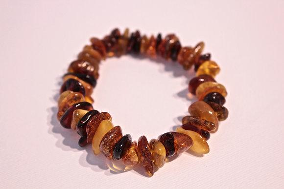 Bracciale scaglie in vera ambra
