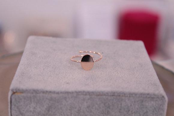 Anello piastrina argento rosato