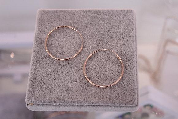 Orecchini argento cerchio sottile