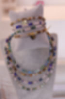 Bracciali e collane girocollo in cristalli e argento 925
