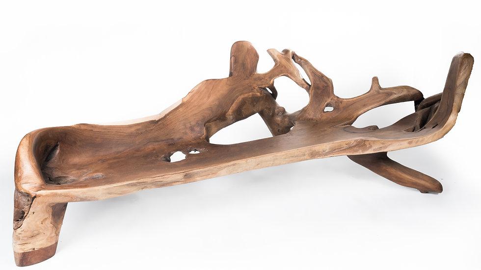 Kursi bangku akar kayu jati rustic