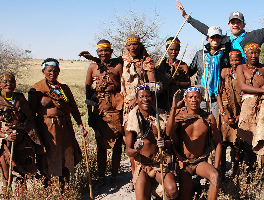 Quad biking safari, meerkat interactions and meeting the Bushmen tribe at Jack's Camp in the Makadikadi Pans, Botswana.