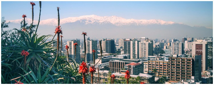 Custom cultural vacation in Santiago, Chile - view of city