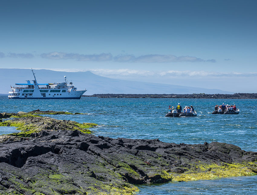 Boat travel in Galapagos Islands and Ecuador