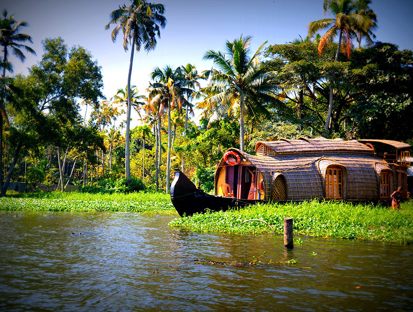 Vacation: the backwaters aboard the traditional Kettuvallam or Indian houseboats.
