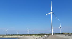 Windmolens op de Oosterscheldekering