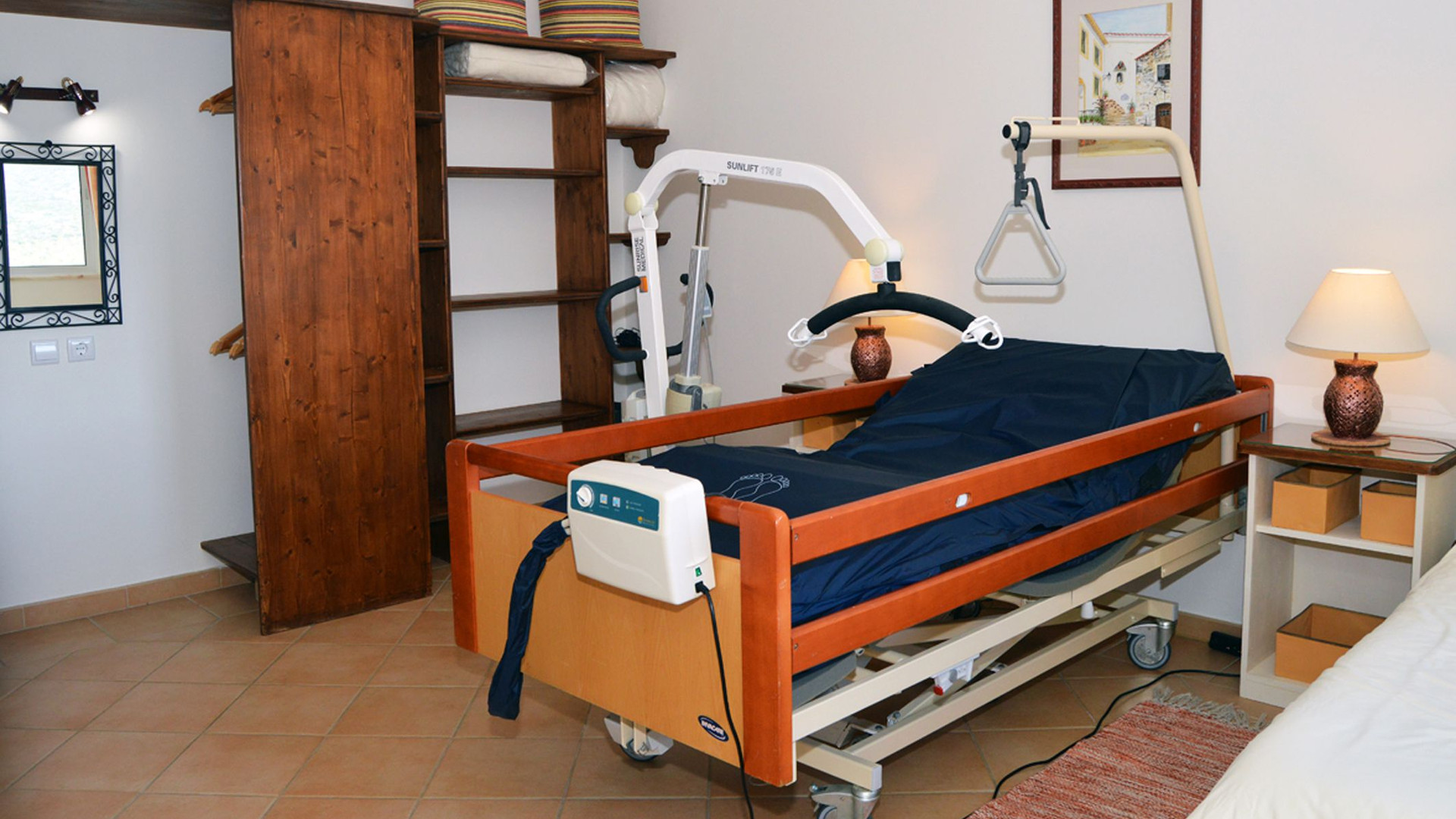 Profiling bed with hoist 2