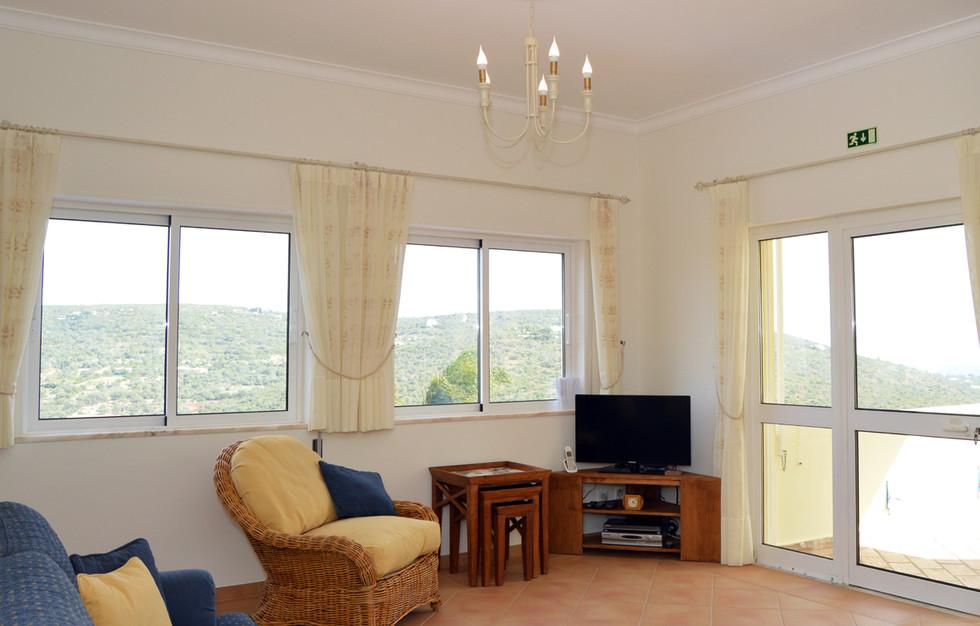 TV and terrace door