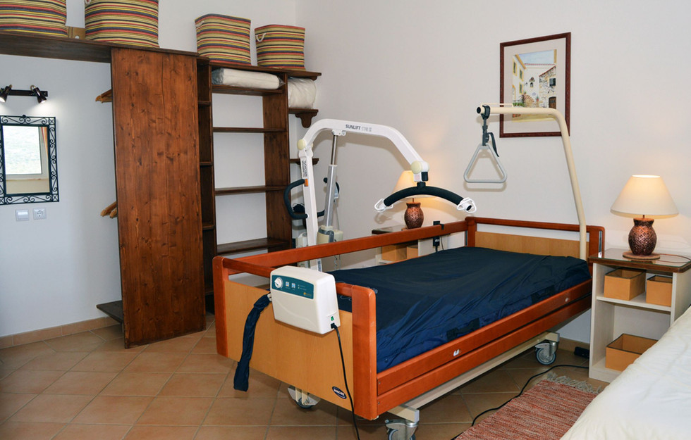 Profiling bed with hoist