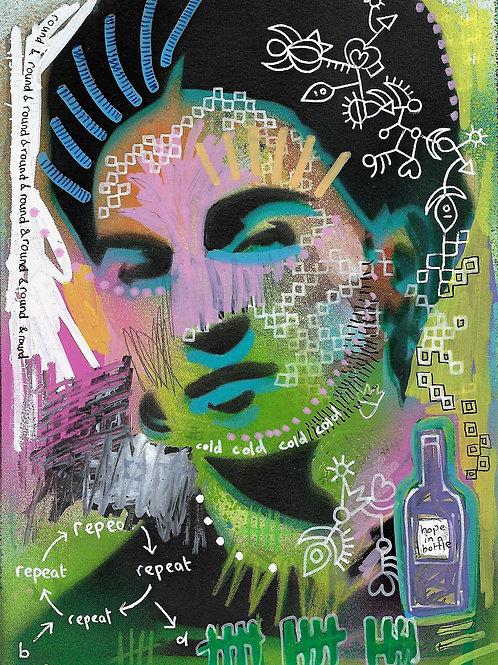 Frida Kahlo- Original Art A5