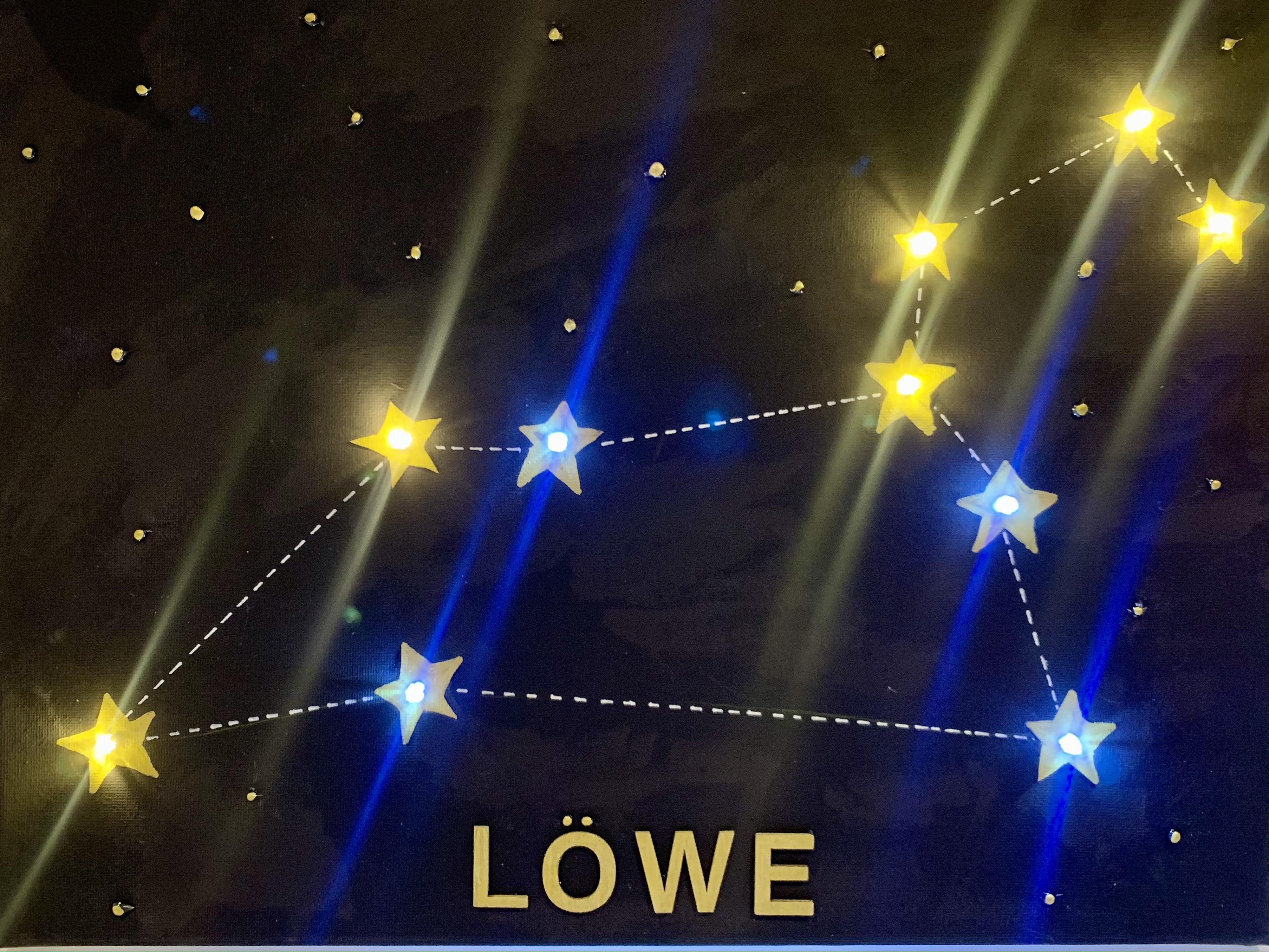 Sternzeichen beleuchtet