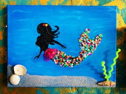 Meerjungfrau Acryl auf Leinwand