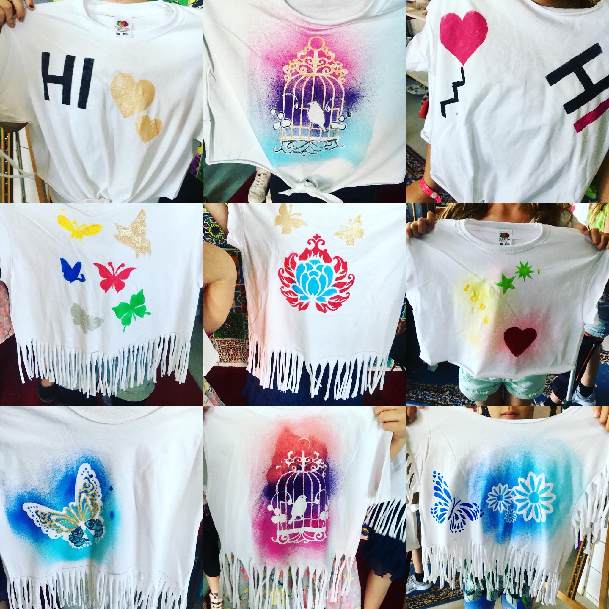 T-Shirts bemalen/schneiden