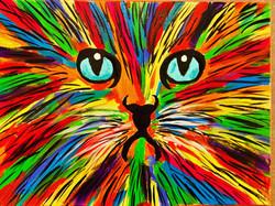 Katze Acryl 30x40 cm