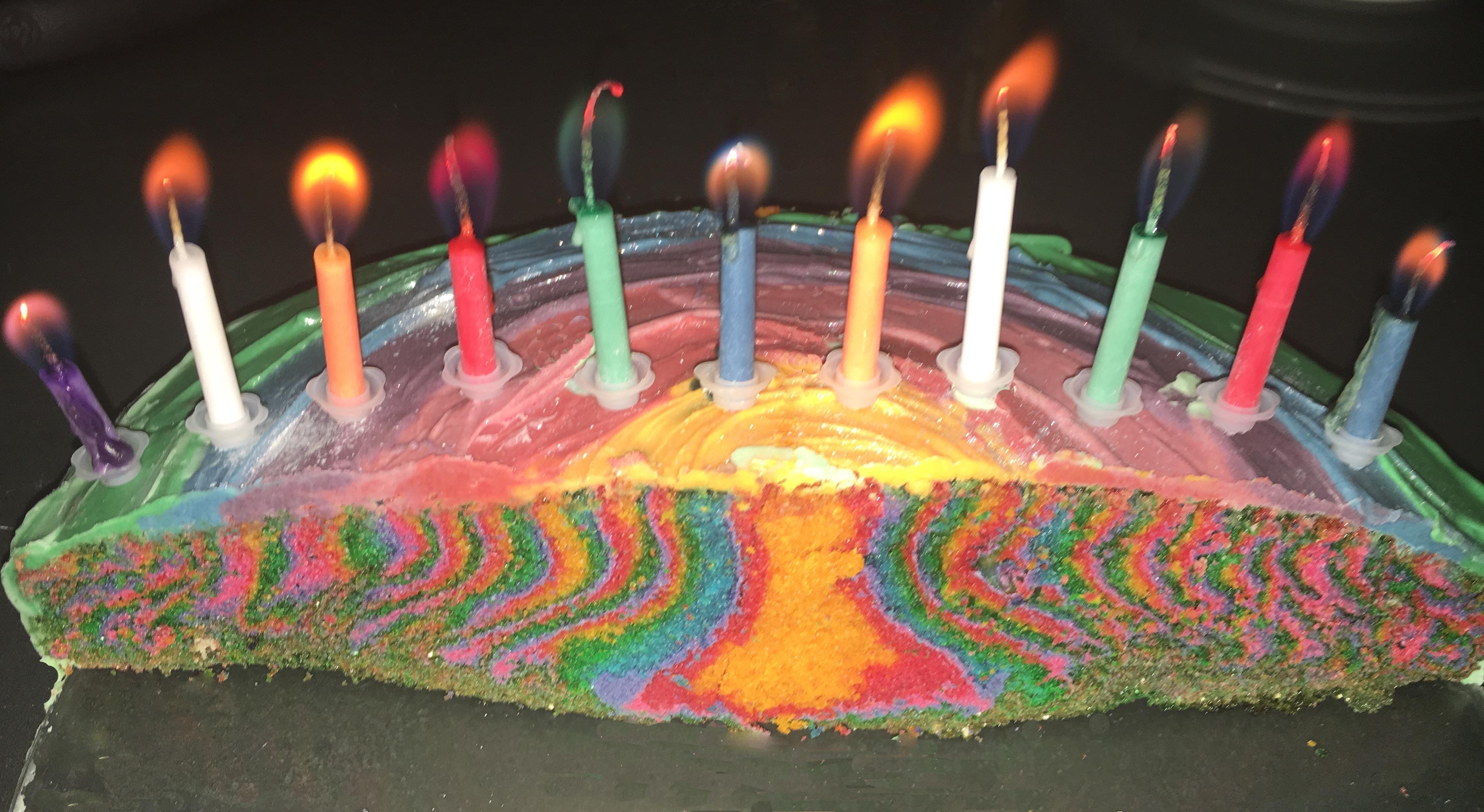 Regenbogen / Lego Kuchen