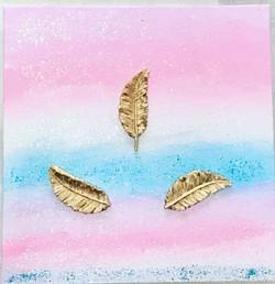3d Bild Goldene Federn