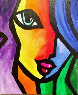 Mädchen Acrylbild