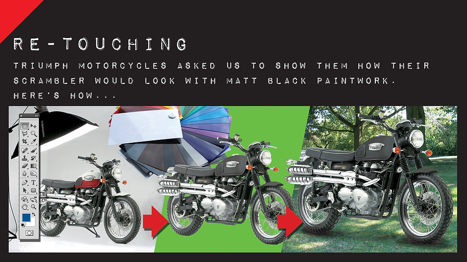 WorkMontage.jpg motorbike colour re-touching image manipulation cut-out photoshop