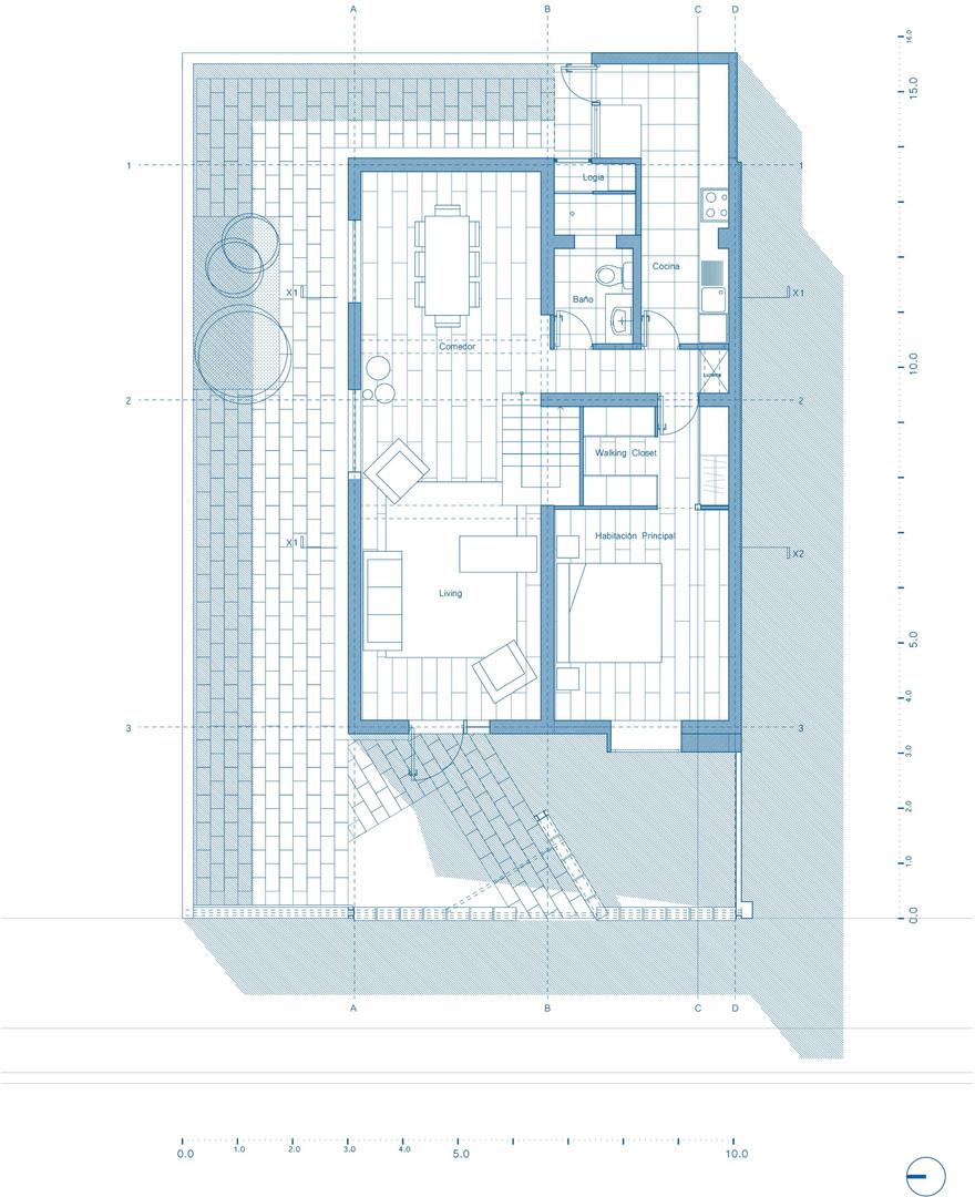 34_Casa Lautaro_Planta Primer Nivel_azul