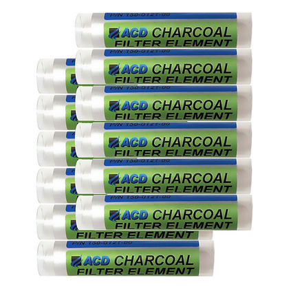 ACD charcoal filter element 12 pack for calibration gas generators