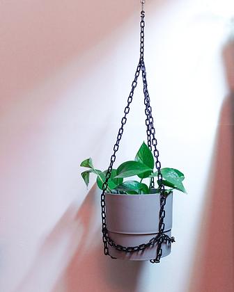 chain plant hanger + pot set - large