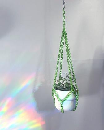 chain plant hanger + pot set - small