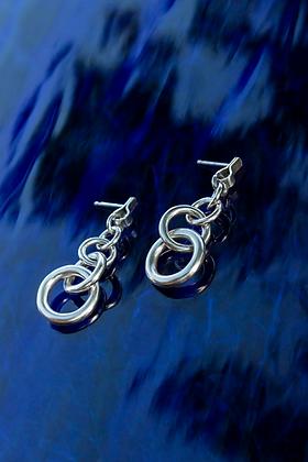 chunky link drop earrings