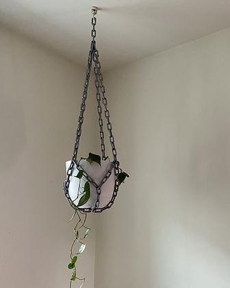 xl chain plant hanger + pot set