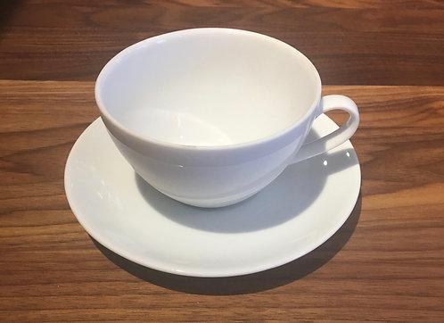 Grande tasse en céramique blanche