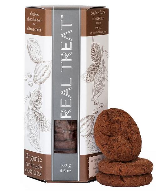 Biscuits Chocolat Noir et Citron Confit