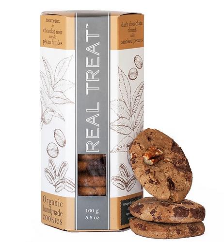 Biscuits Chocolat Noir et Pacanes Fumées