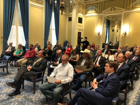 TRUST members and transportation advocates filled the Blue Room during the TRUST Transportation Briefing.