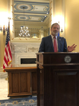 Senate Transportation Committee Chairman Rob Standridge was a featured guest at the briefing.