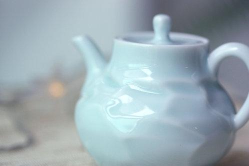 瓷器小茶壺 - 青藍