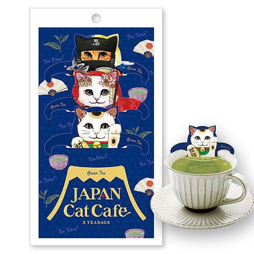 Japan Cat Cafe 日本貓手柄掛耳茶包 (緑茶)