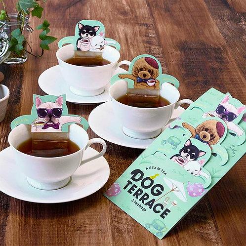 DOG TERRACE 日本粉綠小狗溫泉掛耳茶包 (阿薩姆紅茶)