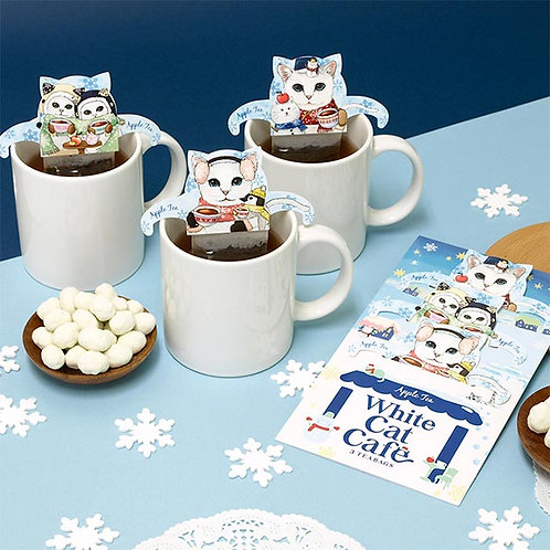 White Cat Cafe 日本貓手柄掛耳茶包 (蘋果茶)