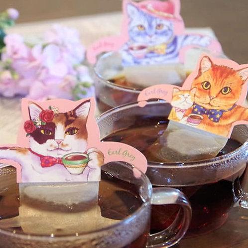 Cat Cafe 日本粉紅貓手柄掛耳茶包 (伯爵茶)