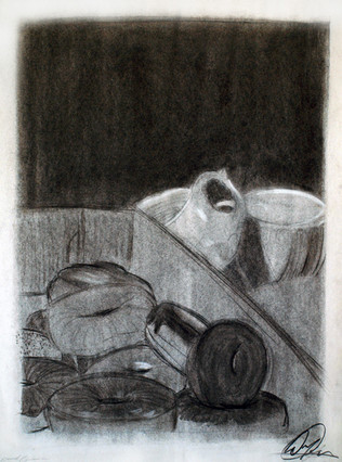 Charcoal on paper Course: Drawing I, Gilbert-Chandler Community College