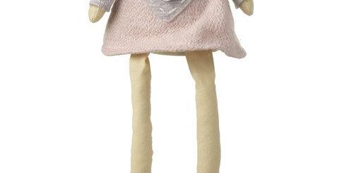Sitting Pink & Grey Dress Angel 2